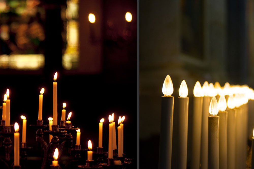 Electric candles: when a cult loses its sacredness
