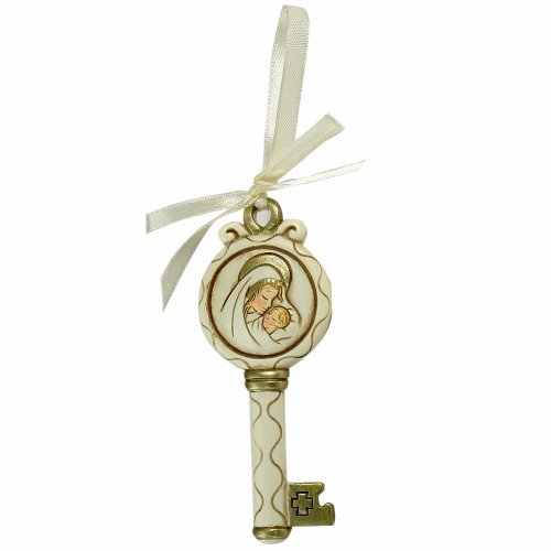 Baptism Souvenir Key and Ribbon