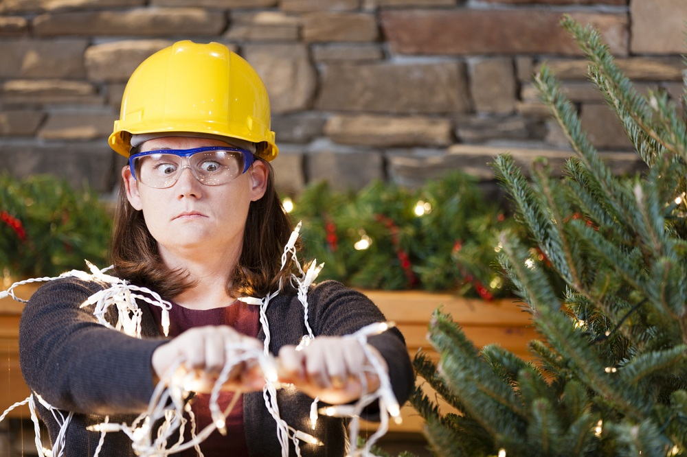 Decorate your house for Christmas in complete safety