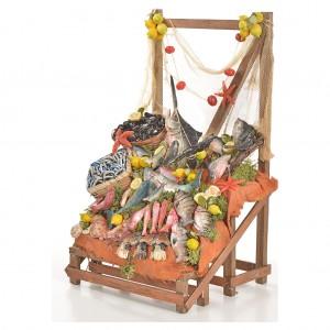 Nativity accessory, fishmonger's stall 20x22x40cm