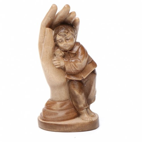 Protective Hand and Wooden Child Valgardena