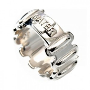 Rosary ring in silver 925, MATER
