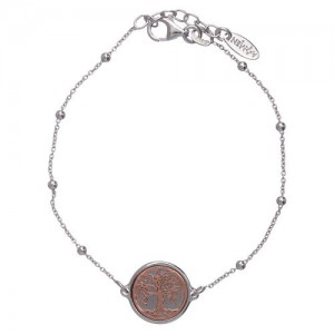 bracialet silver 925 tree of life pink
