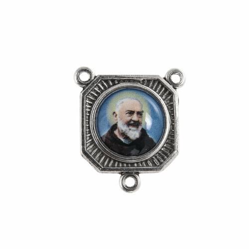 cruise rosary oxidized metal father pio