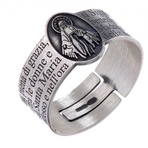 holy mary ring silver