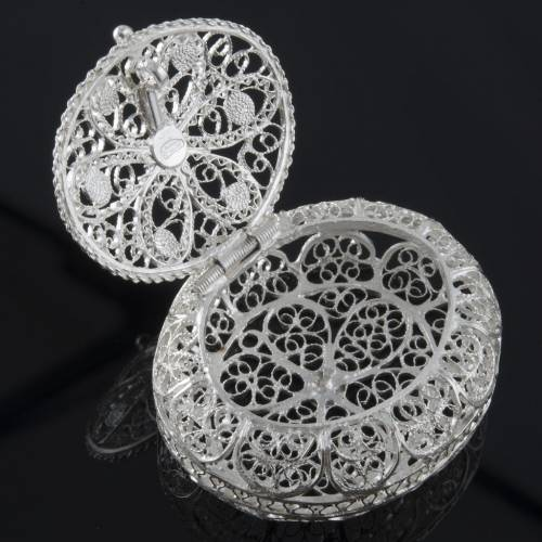 rosary case filigree arg 800 oval