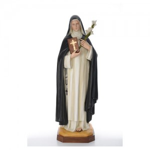 Saint Catherine 160 cm in coloured fiberglass