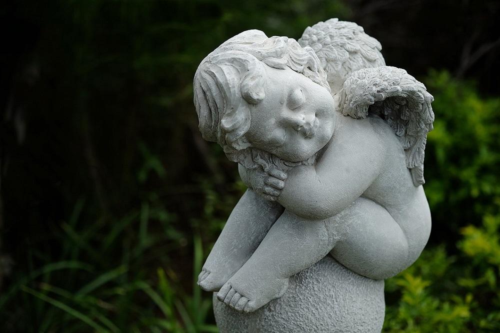 Sleeping garden angel