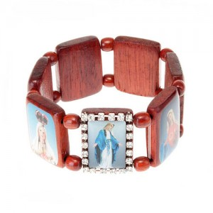 Multi-image wooden bracelets