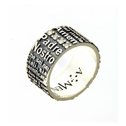 Amen ring in 925 sterling silver