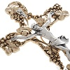 Crucifix, gold-plated with grape branches 24cm 100x100