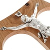 Olive wood tau body of Christ in silvery metal 37 cm 100x100