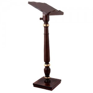 Golden decorated wood lectern