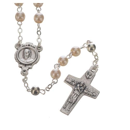 Pope Francis rosary and keyring